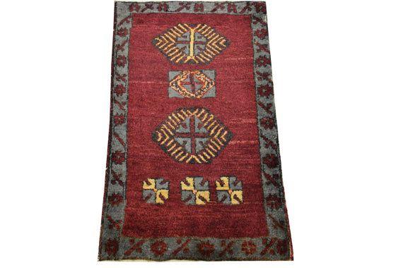 Doormats Turkish rugs handmade 31 x 1.8 Feet  by stripepattern
