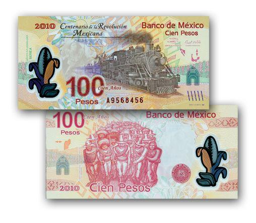 La banconota in plastica della rivoluzione(2010 Messico)