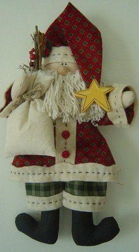 Artesanato Fofo: Papai Noel de tecido