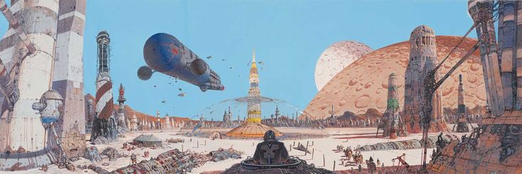 Concept ships: Selected works by Moebius