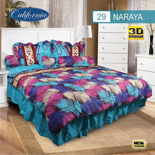 Sprei Set (King 180×200) motif Naraya Premium Lembut. Takut tidak sesuai Ukuran (kekecilan/kebesaran) ??? Kami beri garansi 30 Hari.