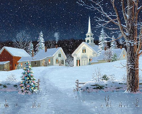 Fred Swan Jigsaw Puzzle - Christmas Lights Christmas Puzzle - 1000 Pieces - White Mountain Puzzles
