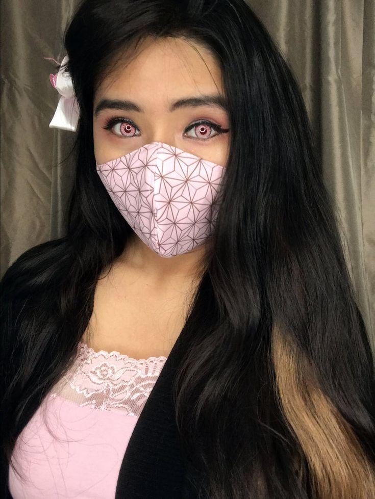 Demon slayer inspired face mask etsy in 2020 face mask