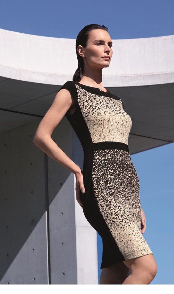 Joseph Ribkoff Dress Style 153894 - Beige