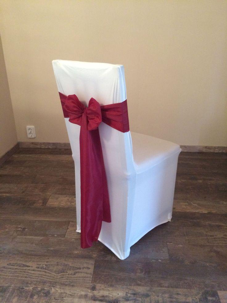 Bérelhető spandex székszoknya bordó színű selyem masnival Érd