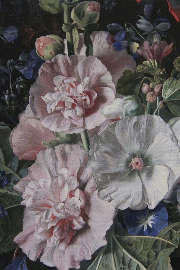 https://flic.kr/p/Baczn8   Detail - Hollyhocks and Other Flowers in aVase, Jan van Huysum, 1702-20