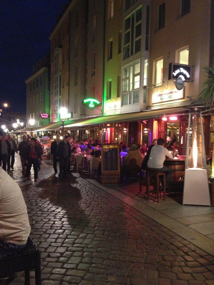 Dresden restaurant row, Germany