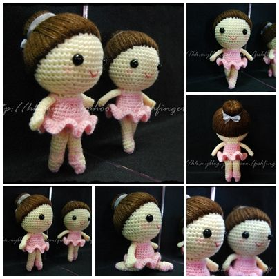 Cute Crochet Ballerina