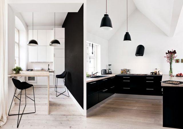 Blog déco design Joli Place cuisine en noir et blanc