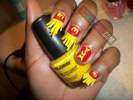 Ghetto McDonalds French Fries Nail Design - NoWayGirl this belongs on the  humor page, for - Ghetto Nails Designs Graham Reid