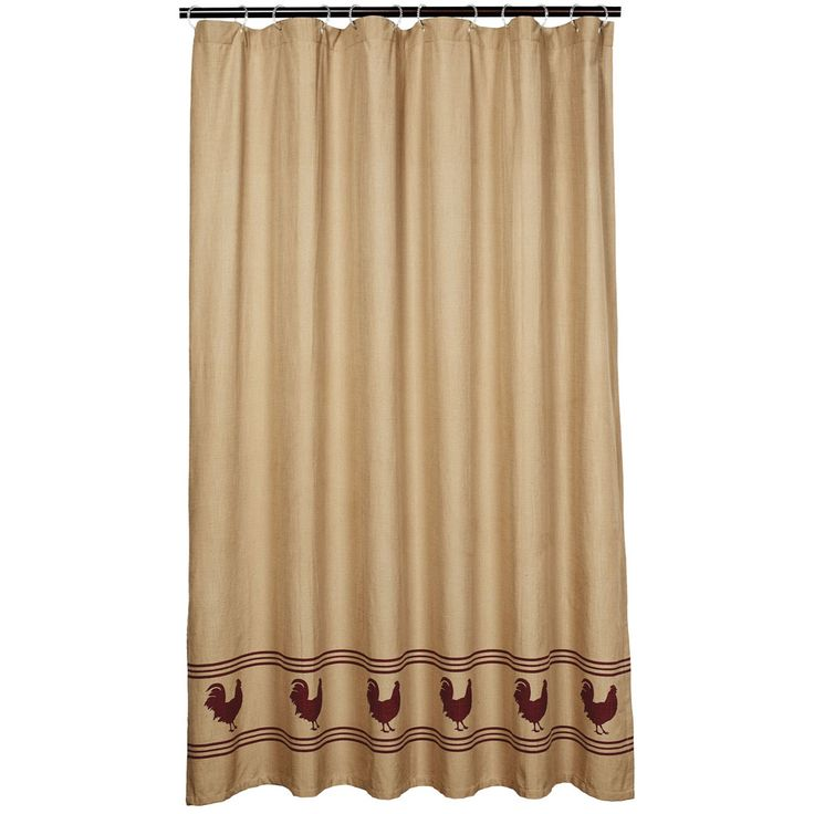 Fabulous Fabrics Roostershowercurtain By Viva Home Decor