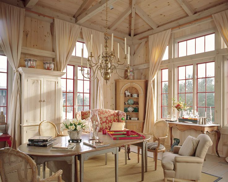 Whitewashed Rustic Cabin Interiors Post And Beam Eastern