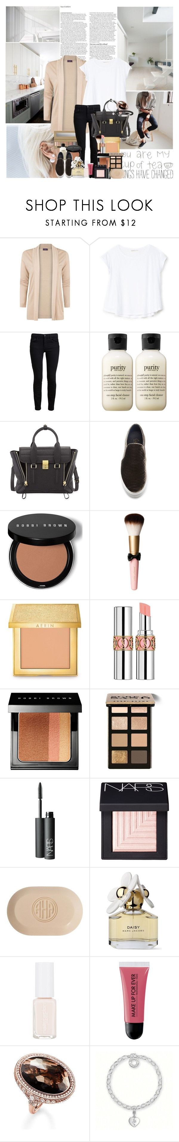 """You look so beautiful in this light"" by airplane ❤ liked on Polyvore featuring ASOS, MANGO, Bershka, Proenza Schouler, philosophy, 3.1 Phillip Lim, Joshua's, Bobbi Brown Cosmetics, AERIN and Yves Saint Laurent"