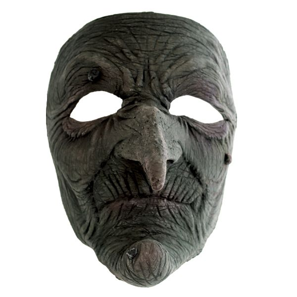 Grønn heksemaske - Skumle halloween masker