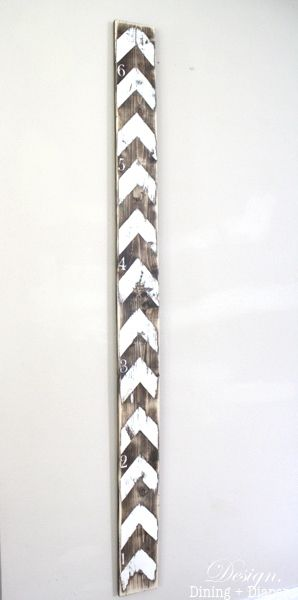 Make before we move so we can take it with us DIY Rustic Growth Chart