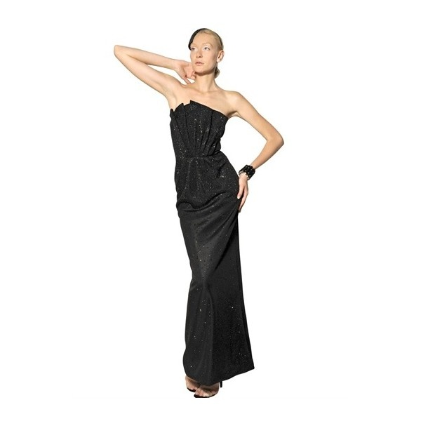 GIORGIO ARMANI Swarovski Heavy Silk Jersey Long Dress ($8,249 ... Giorgio Armani