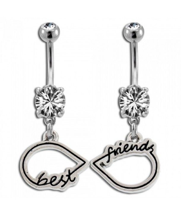 Best friends matching belly button rings