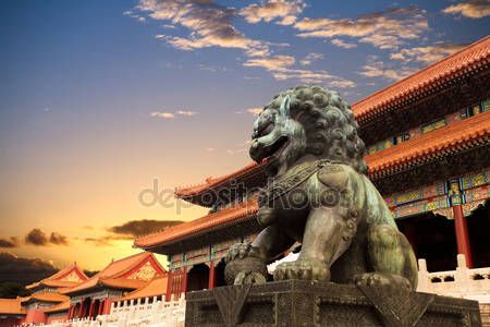 Download - Bronze lion in the forbidden city — Stock Image #7469768
