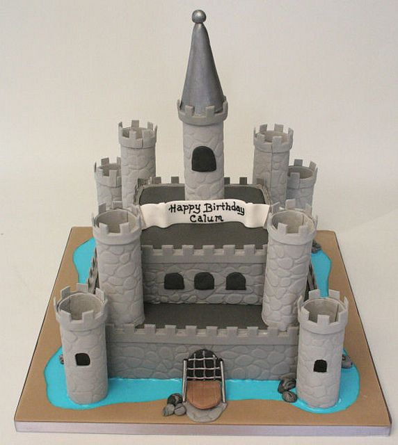 Castle Birthday Cake by allaboutcake, via Flickr