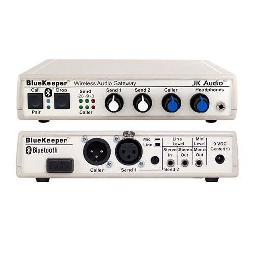 JK Audio BlueKeeper Bluetooth Wireless Audio Gateway, 200 Ohms Output Impedance, 30Hz - 17 kHz Frequency Response. JK Audio BlueKeeper Bluetooth Wireless Audio Cell Phone Gateway.