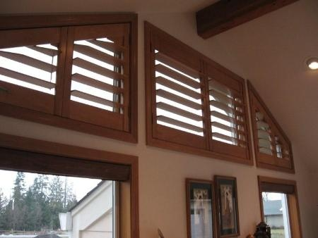 Angle Top Specialty Shaped Signature Series Shutters Pure