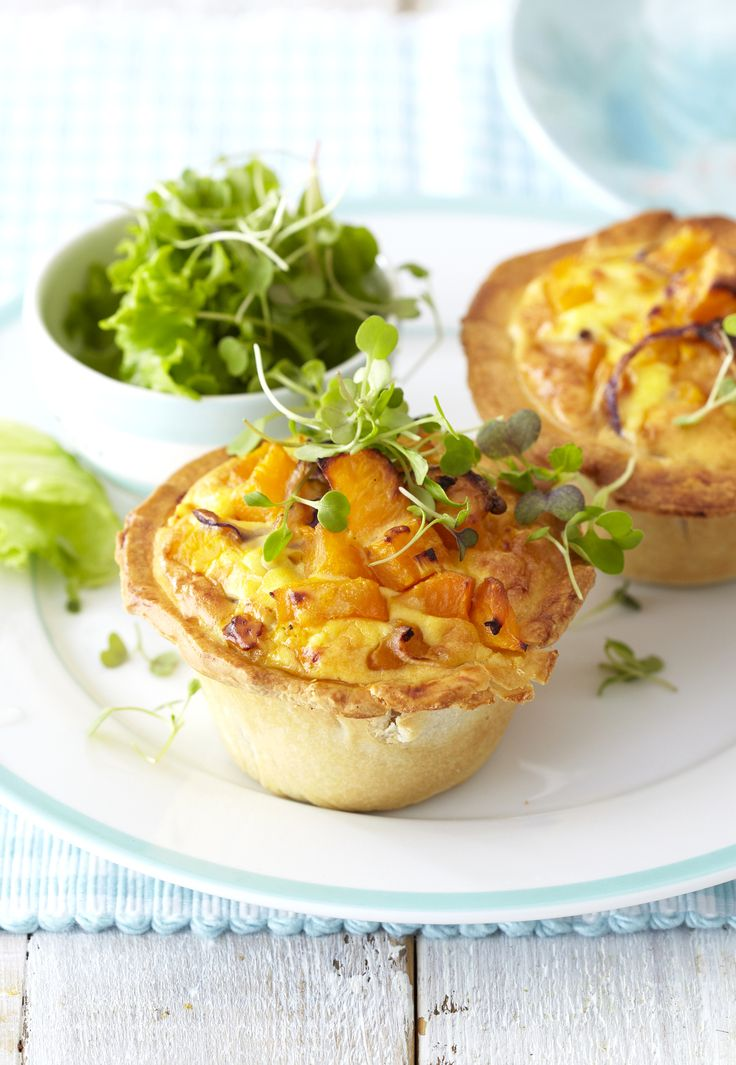 Butternut & Blue Cheese Quiche - who could resist one of these for brunch, lunch or a tea-time treat?