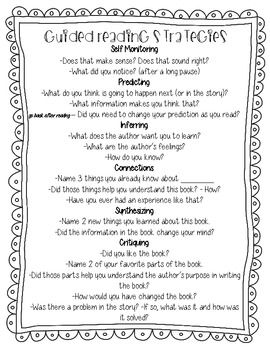 Guided Reading Strategies and Main Idea