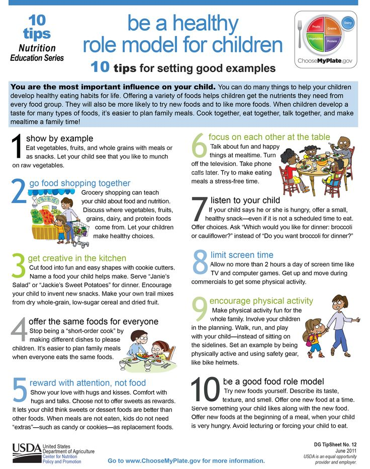 Here are 10 tips to help you set a good, healthy example