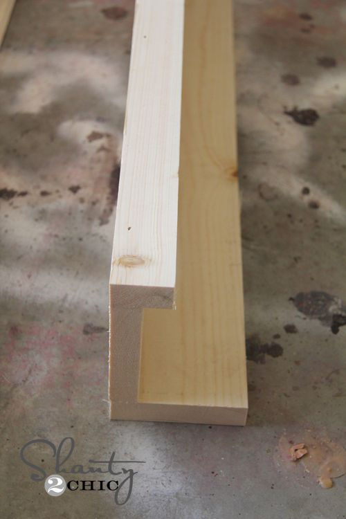 DIY picture frame or book ledges
