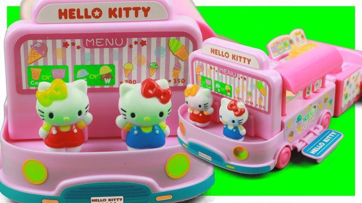 Hello Kitty Ice cream Truck car Toys 헬로키티 아이스크림 자동차 장난감