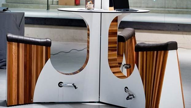 Stationary Bike-Desk Hybrid Generates Energy to Charge Devices (Photos) : Discovery News