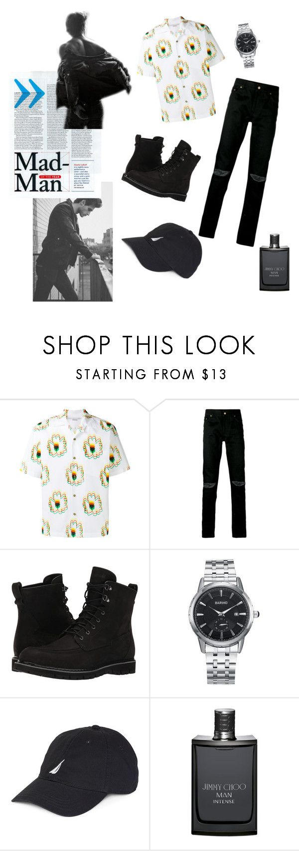 """""""Menswear❤"""" by dinereyes ❤ liked on Polyvore featuring STELLA McCARTNEY, Yves Saint Laurent, Timberland, Nautica, Jimmy Choo, men's fashion and menswear"""