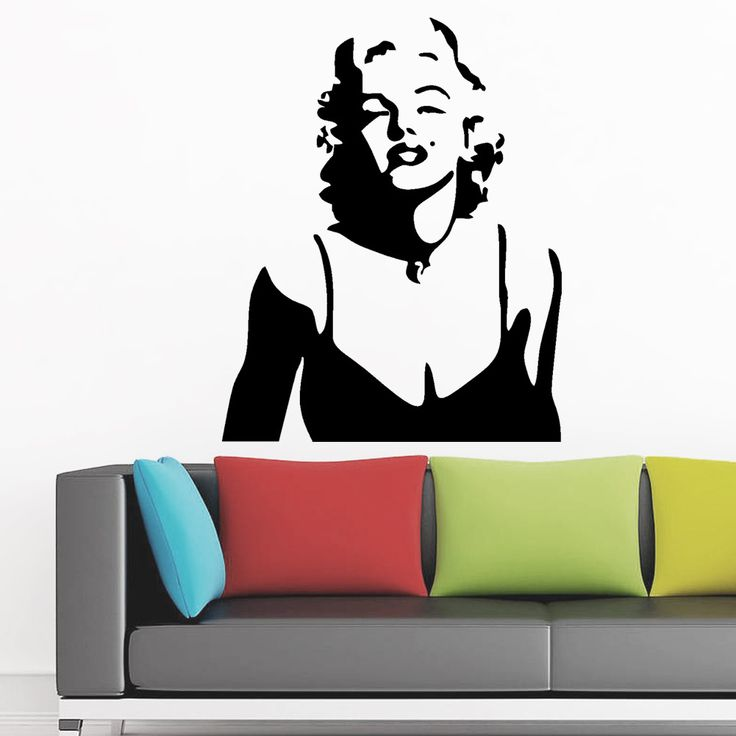 Fashion Women Marilyn Monroe Removable Wall Sticker Home Decal Living Room  Bedroom Decor Wallpaper Girls Bedroom Part 37