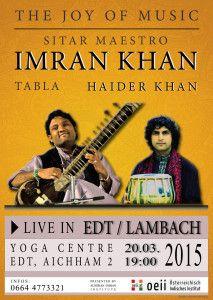 » MAR 20, 2015, 19:00 - Sitar Maestro IMRAN KHAN in EDT http://oeii.at
