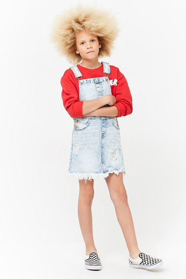 bf2ac1282f9 Girls Distressed Overall Dress (Kids)