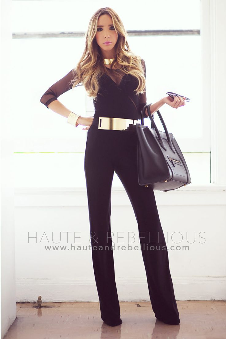 Haute And Rebellious Black Jumper ( Chiffon Tulle Bustiers & Bras & Pants )