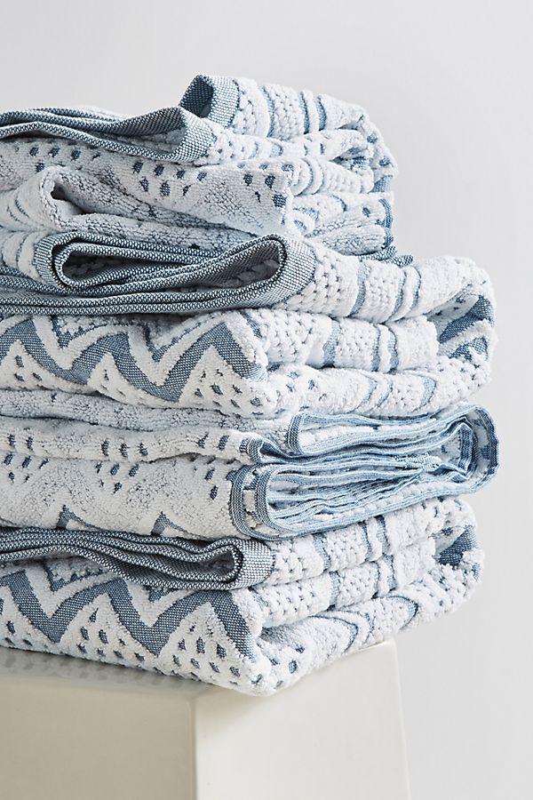 Slide View: 1: Chevron Towel Collection