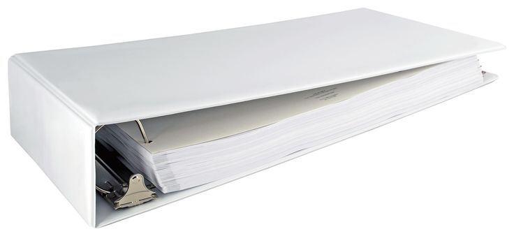 """$27 - 11x17 Binder 3"""" Angle-D Ring Vinyl with Outside Pockets (White)"""