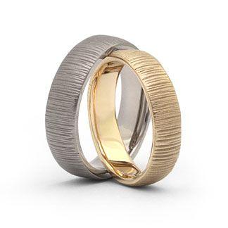 Trauringe, Eheringe 952 Platin, 585 Gold Ringform: außen abgerundet, innen leicht bombiert. Damenring: 5,5mm breit, 1,7mm stark Herrenring: 6,5mm breit, 1,7mm stark Oberfläche: matt
