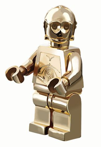 14-Karat Gold Limited Edition LEGO Star Wars C-3PO Minifig (Only 5 were made)