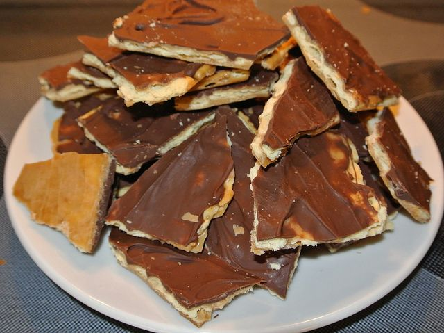 saltine toffee crackers. So quick and easy. And so delicious!