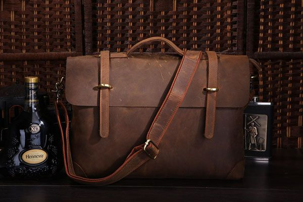 Accessory for real men. Genuine leather bags is where it's at! #mensfashion #leatherbag