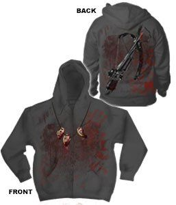 The Walking Dead Crossbow Ears Men`s Zip Hoodie
