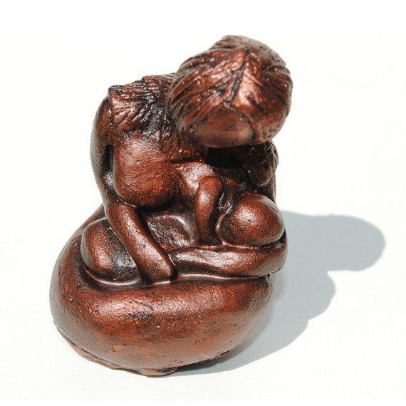 Mothers Day Sculpture of Mother Breastfeeding by ElizabethBonura, $45.00