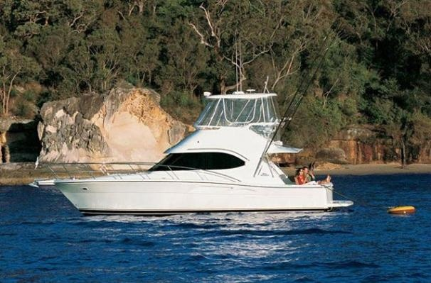 2002 Riviera 37 Flybridge Convertible Boats,Saltwater Fishing in Dana Point, CA    not enough windows