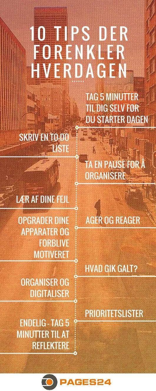 10 tips der forenkler hverdagen #infograf