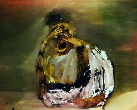 sidney nolan, seated figure, 1963.