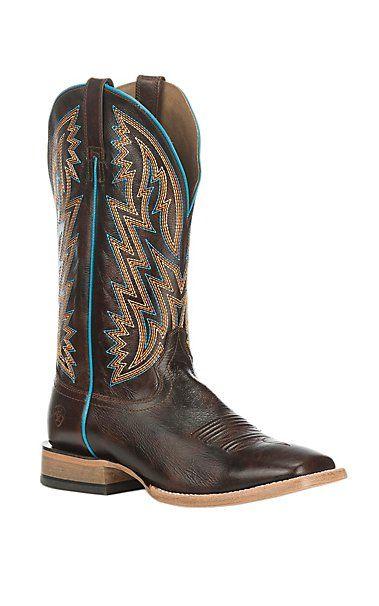 Ariat Men's Ranchero Rebound Brown Western Square Toe Boots | Cavender's