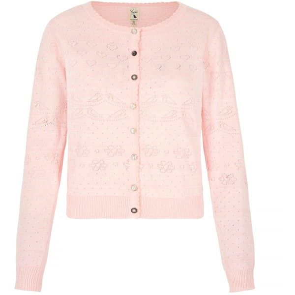 Yumi Long Sleeve Pointelle Cardigan (85 AUD) ❤ liked on Polyvore featuring tops, cardigans, light pink, women, pink cardigan, cardigan top, light pink top, button front tops and j.crew cardigan
