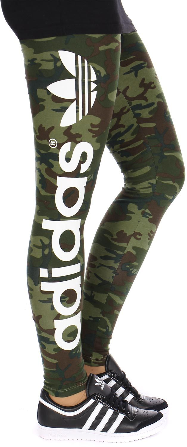 368a925ff1660 adidas Originals Women's Trefoil B-Ball Tight Fashion Leggings Camo Animal  Print | eBay